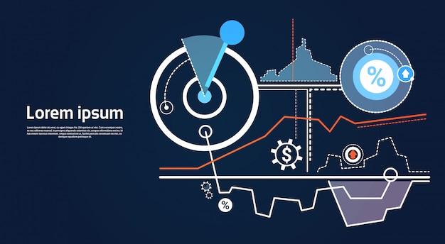 Analyse financiën grafiek financiële bedrijfsgrafiek