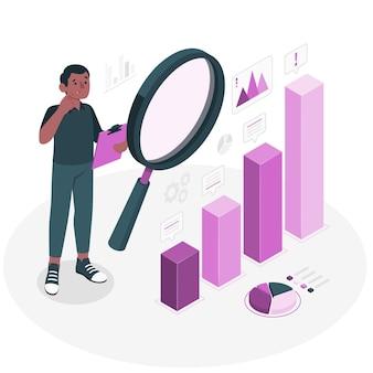 Analyseer concept illustratie