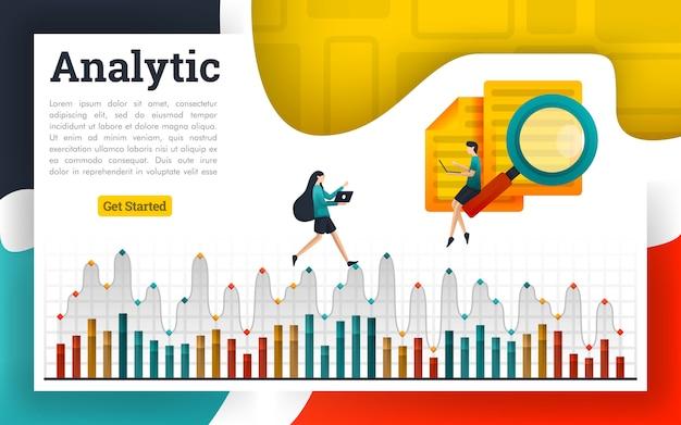 Analyseer documenten en leg uit op analytische grafieken