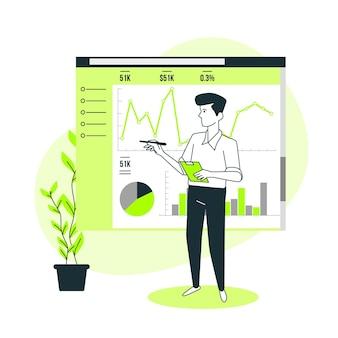 Analytics concept illustratie instellen