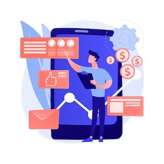 Analytics en data science. databaseanalyse, statistisch rapport, automatisering van informatieverwerking. datacenter expert maakt rapport.
