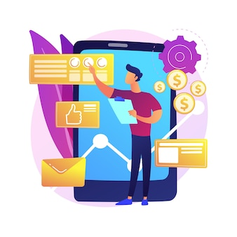 Analytics en data science. databaseanalyse, statistisch rapport, automatisering van informatieverwerking. datacenter expert maakt rapport