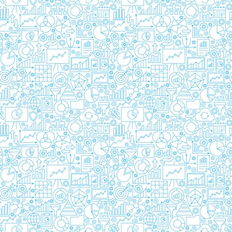 Analytics wit naadloos patroon. vectorillustratie van zakelijke lijn achtergrond.