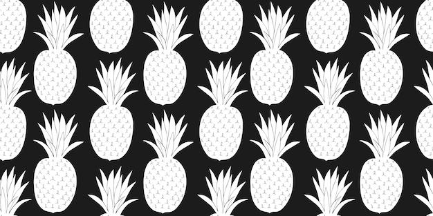 Ananas naadloos patroon.