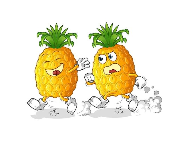 Ananas spelen achtervolging cartoon