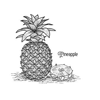 Ananas vintage stijl
