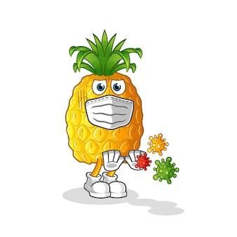 Ananas weigeren virussen cartoon