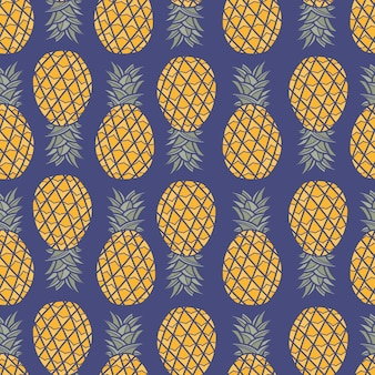 Ananassen naadloos patroon