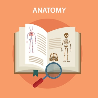 Anatomie boek met lupe