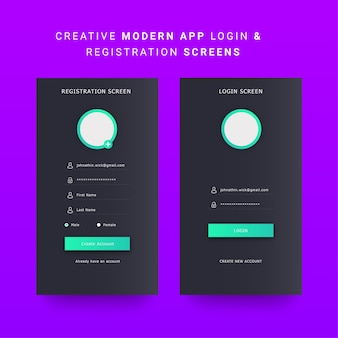 Android mobiele app ui, mobiele dashboard ui-elementen