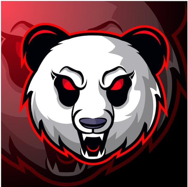 Andry panda hoofd illustratie
