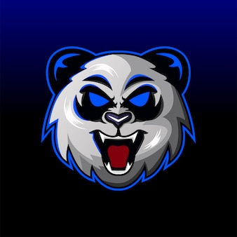 Andry panda hoofd mascotte