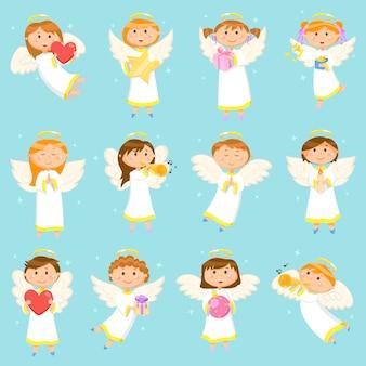 Angel children, boys and girls wintervakantie