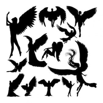 Angel silhouetten