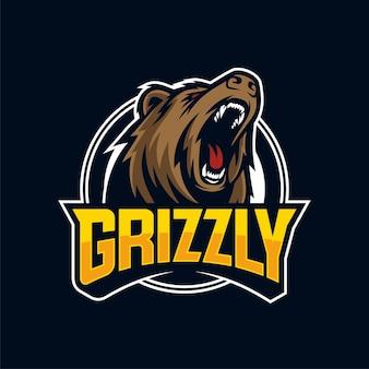 Angry bears mascotte logo