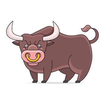 Angry bull illustratie