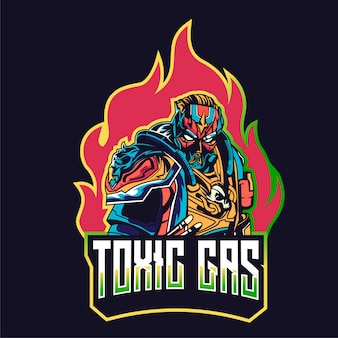 Angry gaming mensen karakter logo mascot badge esports