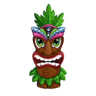 Angry hawaiian totem.