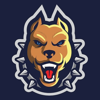 Angry pit bull esport logo afbeelding