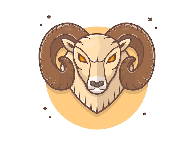 Angry ram mascot logo icon