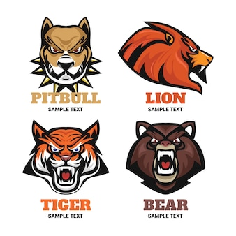 Animal badges voor sportlogo collecties