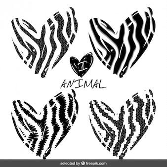 Animal print harten