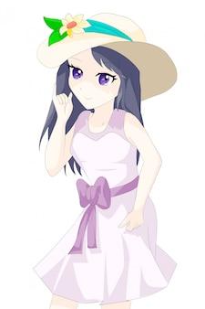Anime meisje japans karakter