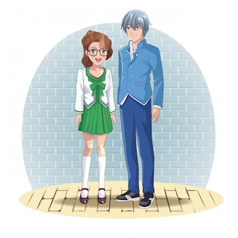 Anime paar manga cartoon