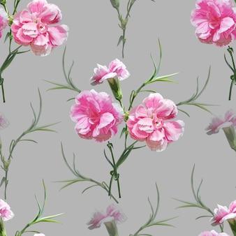 Anjer bloemen naadloos patroon