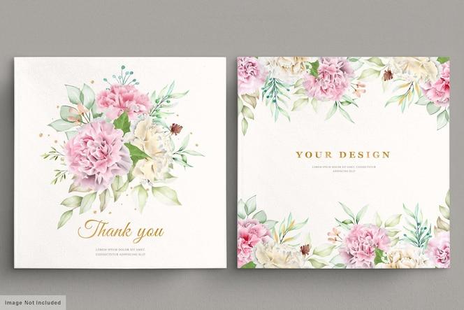 anjer bloemen uitnodigingskaart