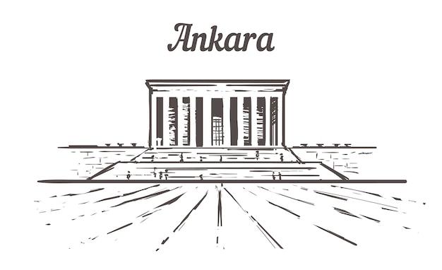 Ankara gebouw schets