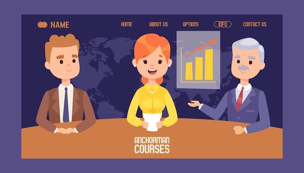 Anker aandelenmarkt cursussen website-ontwerp.