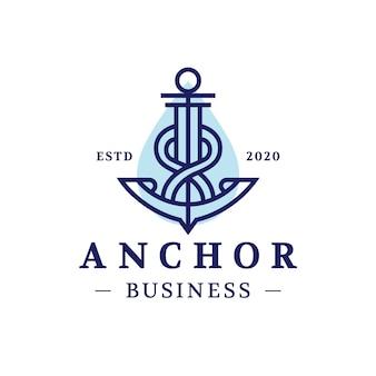 Anker drop logo ontwerp