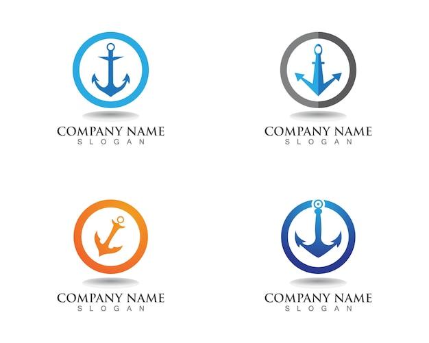 Anker logo en symbool sjabloon pictogrammen