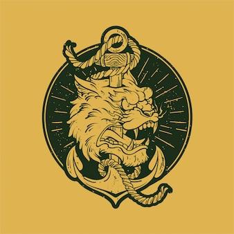 Anker tijger illustratie