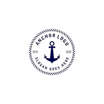 Anker vintage logo ontwerp