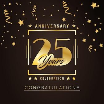 Anniversary achtergrond ontwerp