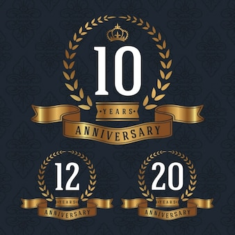 Anniversary badges collectie