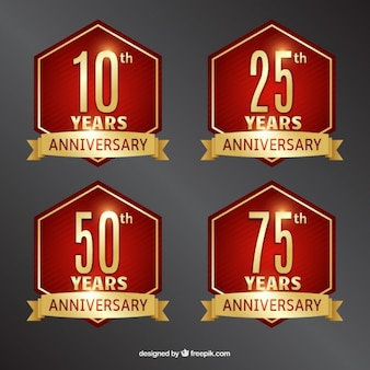 Anniversary labels ontwerp