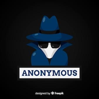 Anonieme hacker achtergrond