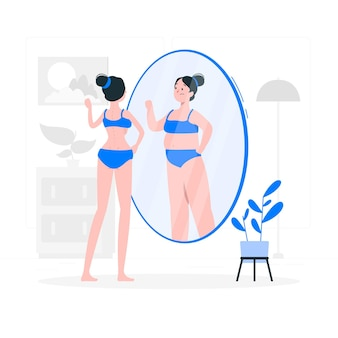 Anorexia concept illustratie