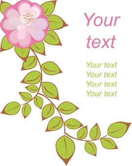 Ansichtkaart met patroon van rozepaarse bloemen