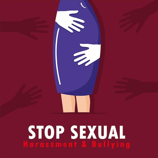 Ansichtkaart seksuele intimidatie