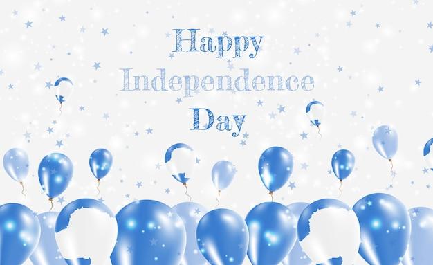 Antarctica onafhankelijkheidsdag patriottische design. ballonnen in de nationale kleuren van antarctica. happy independence day vector wenskaart.