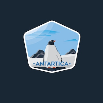 Antartica pinguin-badge