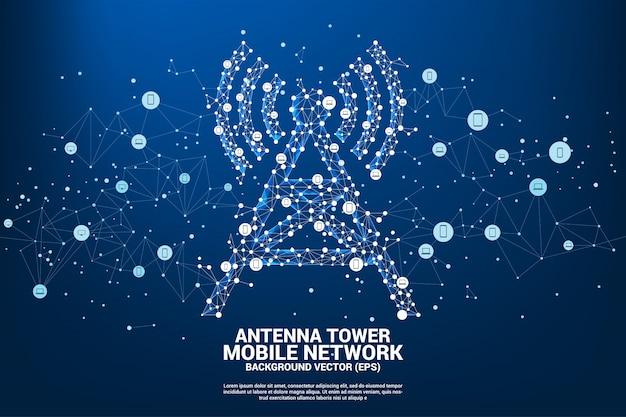 Antenne toren pictogram