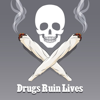 Anti drug illustratie