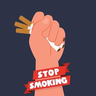 Anti tabak dag achtergrond