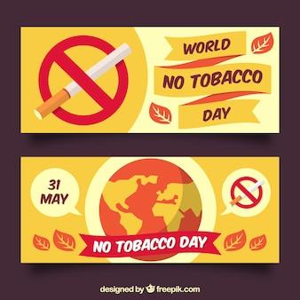 Anti-tabak werelddag banners