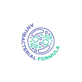 Antibacterieel logo concept